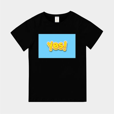 T365 MIT 親子裝 T恤 童裝 情侶裝 T-shirt 標語 話題 口號 美式風格 slogan yes!