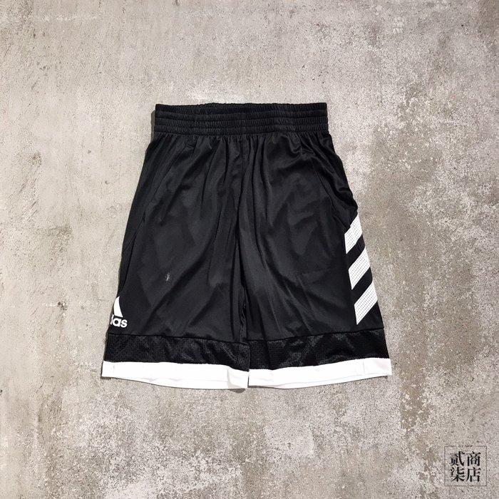 (貳柒商店) adidas Pro Bounce Shorts 男款 黑白 短褲 籃球褲 運動褲 排汗 DP4778