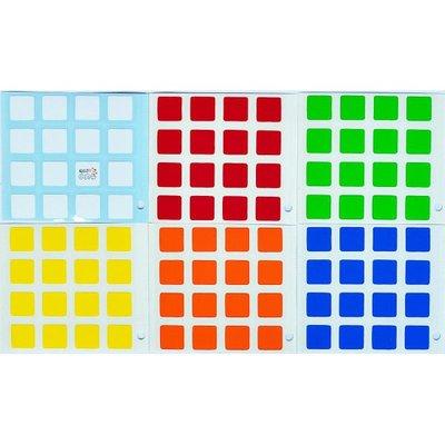 小丸號 魔術方塊 貼紙~紳藍四階 方塊 貼紙~德國 PVC材料~聖手