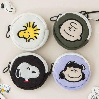 好心情日韓正品雜貨『韓國 PEANUTS』史努比AirPods/ AirPods Pro收納包+金屬釦環~4款