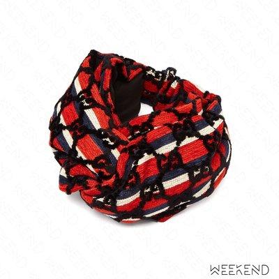 【WEEKEND】 GUCCI GG Logo 絲絨 髮帶 頭帶 紅色 藍色