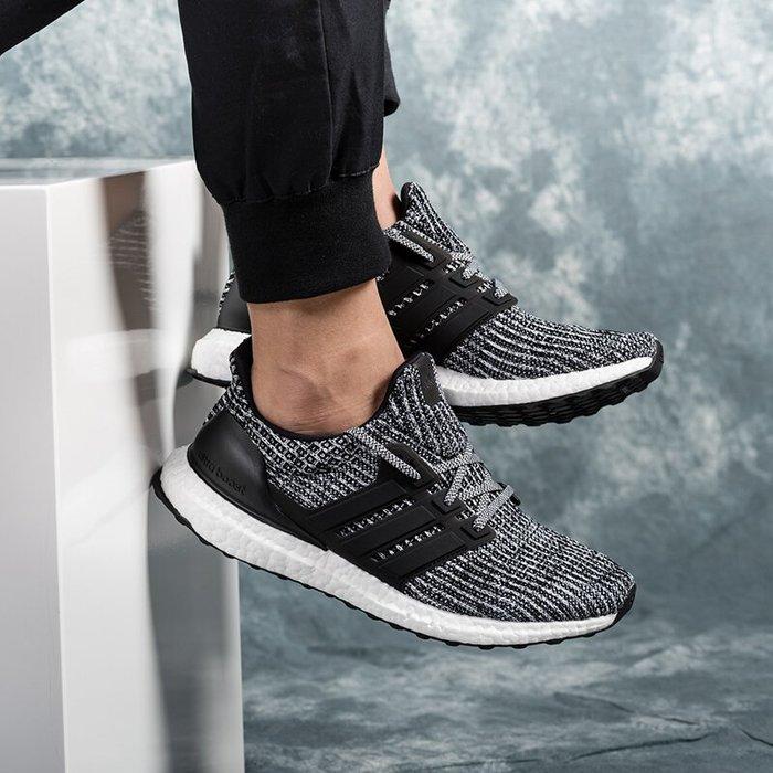 [Roen羅恩代購] Adidas Ultra Boost 4.0 編織襪套男女慢跑鞋 黑白雪花