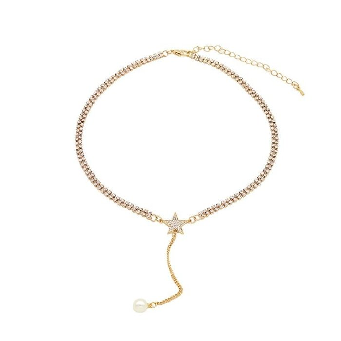 韓國簡約短款珍珠項鍊網紅鎖骨鍊女頸鍊脖子飾品吊墜