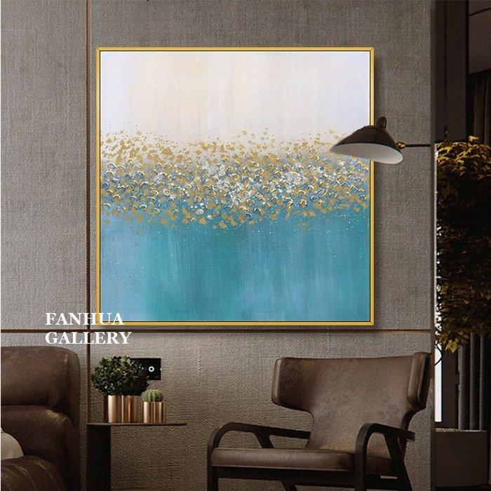 C - R - A - Z - Y - T - O - W - N 純手繪立體油畫簡約金色浪花抽象掛畫美式輕奢立體裝飾畫