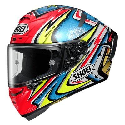 推進# 機車配件零件騎士網日本進口SHOEI X14馬奎斯車手盔摩托車頭盔跑車防霧全盔