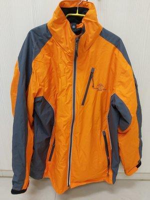法國品牌Pierre balmain皮爾帕門-防風多口袋男性XL外套-橘色~全新無吊牌