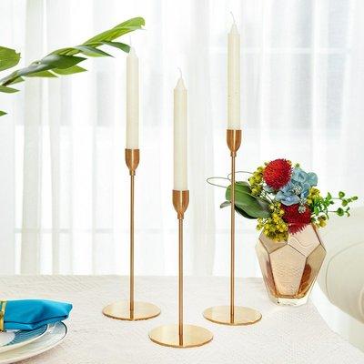 〖洋碼頭〗金色黃銅燭臺擺件美式餐桌燭光歐式簡約純銅家用輕奢小燭臺 sme360
