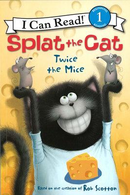 *小貝比的家*SPLAT THE CAT TWICE THE MICE/L1/平裝/3~6歲