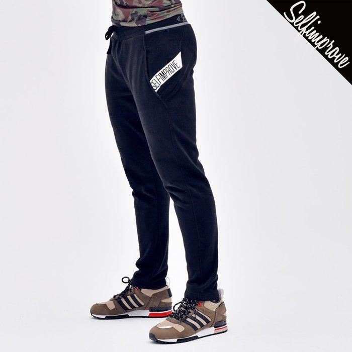 【OTOKO Men's Boutique】固制:修身口袋防側漏運動長褲/黑色(台灣獨家代理)