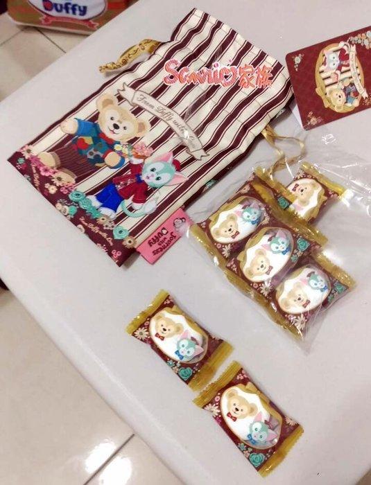 《東京家族》東京海洋迪士尼樂園情人節限定 達菲熊/傑拉東尼 duffy 禮物袋 收納袋 束口袋內 *不附食物*日本帶回