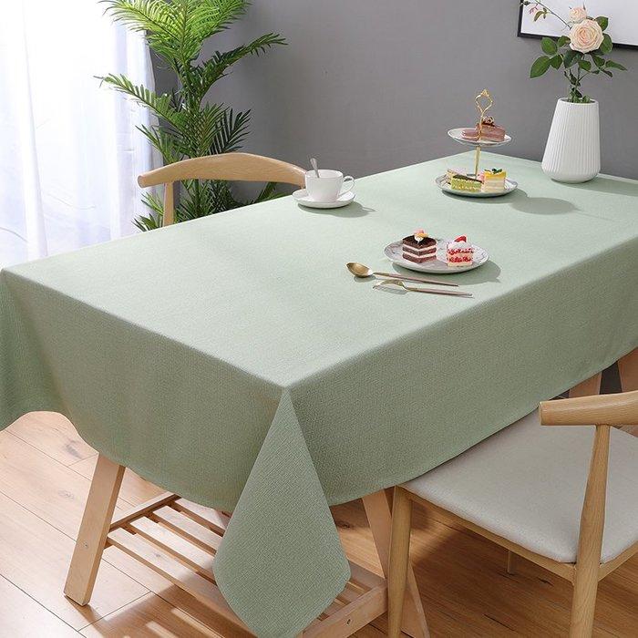 小花花精貨店-純色灰色布藝棉麻小清新桌布格子茶幾桌布冰箱蓋布長方形客廳臺布