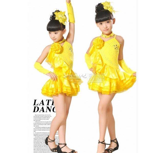 5Cgo【鴿樓】會員有優惠 37827914944 兒童舞蹈服練功服演出服裝女童跳舞衣服兒童拉丁服舞衣
