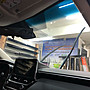 阿吉汽車大樓隔熱紙。一般轎車前檔風玻璃貼3m極光m70特價5000