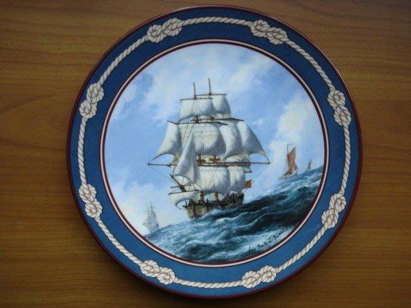 [美]英國百年名瓷Royal Doulton1989年骨瓷限量裝飾盤Endeavour