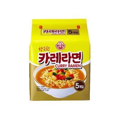 韓國 不倒翁 Ottogi 咖哩風味拉麵 110g/5入(袋) 咖哩 拉麵 泡麵【特價】異國精品