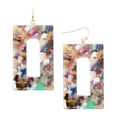 正品 FOREVER 21 rectangle drop earrings