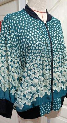 美國名牌ANNA SUI安娜蘇 綠寶石五分袖上衣 外套 外罩