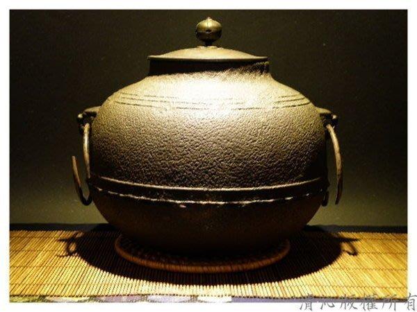 ☆清沁苑☆日本茶道具~長野垤志(人間國寶) 斑銅蓋万代屋釜~q097