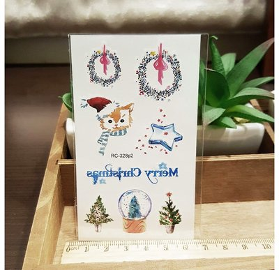 【萌古屋】聖誕節RC-328 - 男女防水紋身貼紙刺青貼紙 K29