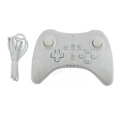 【二手商品】任天堂 Nintendo WiiU PRO 副廠 無線手把 傳統手把 白色(內附充電線) 【台中恐龍電玩】