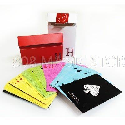 [808 MAGIC]魔術道具 Yu Ho Jin manipulation cards (柳豪鎮 彩色薄牌)