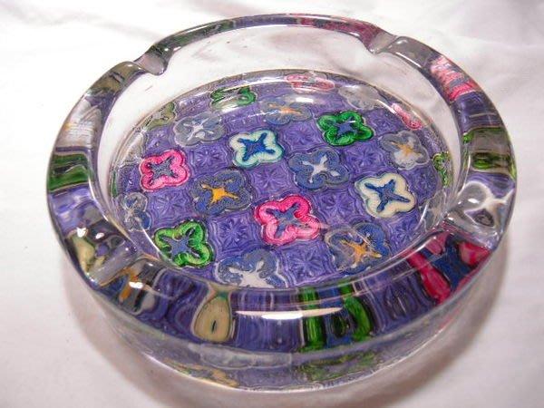 西班牙彩繪水晶琉璃煙灰缸