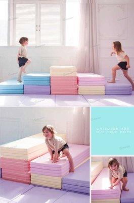 【木星代購】《韓國代購 Caraz 四摺 地墊 公司貨 馬卡龍色 120x160cm 小 預購》韓國直送寶寶爬行墊遊戲墊