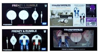 JCT 變形金剛 FRENZY & RUMBLE -playing earphone- 耳機 767442
