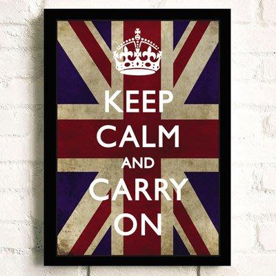 keep calm and carry on勵志海報宿舍學校掛畫牆貼框畫貼裝飾畫