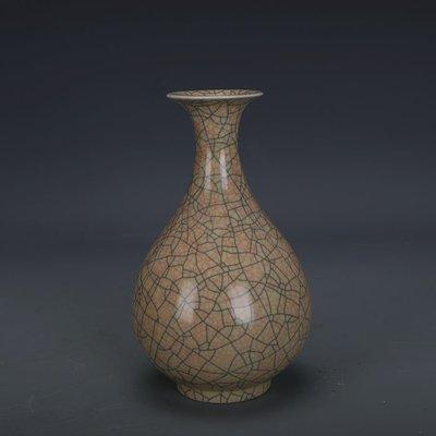 ㊣姥姥的寶藏㊣ 宋代哥窯金絲鐵線支釘玉壺春瓶  出土文物古瓷器古玩古董收藏擺件
