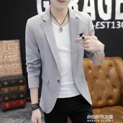 男士外套新款薄款休閒西裝男韓版潮流修身帥氣小西服上衣