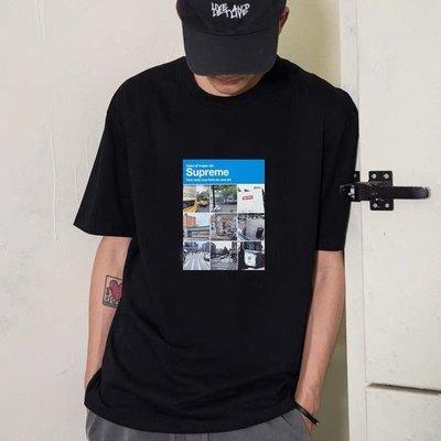 Supreme 21FW Verify Tee九宮格街景照片短袖TEE恤男女情侶潮夏新