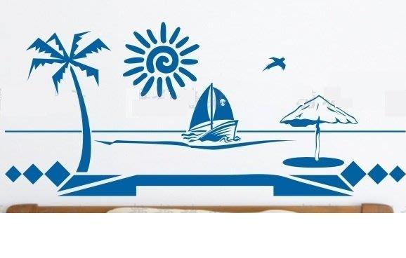 小妮子的家@地中海海灘壁貼/牆貼/玻璃貼/磁磚貼/汽車貼/家具/糖