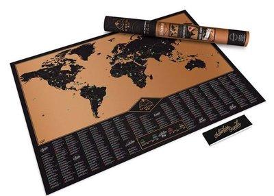[現貨]刮刮地圖 黃金奢華版Scratch Map World Gold世界創意探險旅行人生炫麗好玩 裝飾生日禮物交換