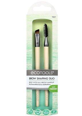【愛來客 】新款美國EcoTools Brow Shaping DUO 眉刷 眉梳 刷具組 #1607
