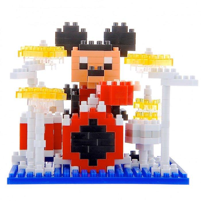 Ariel Wish日本東京迪士尼米奇鼓手大樂團big band益智遊戲樂高LEGO積木 nano block最後絕版品