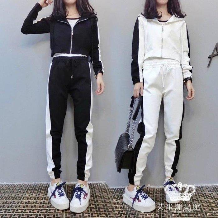 運動套裝 女韓版休閒兩件套