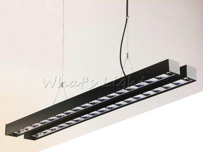 划得來LED燈飾~現代時尚高質感 T8 LED專用 鋁格柵吊燈空台 日光燈 OA辦公室照明 另有吸頂式 (P60262)