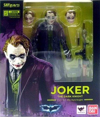 日本正版 萬代 S.H.Figuarts SHF 蝙蝠俠 Joker 小丑 可動 模型 公仔 日本代購