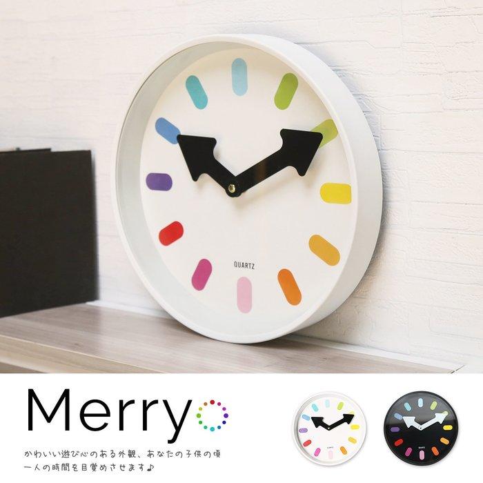 時鐘 Merry 梅莉童趣玩色時鐘/掛鐘-2色 / H&D 東稻家居