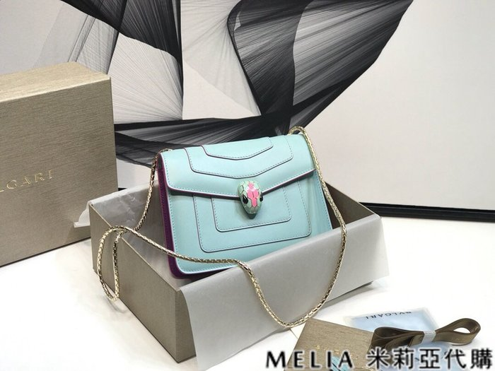 Melia 米莉亞代購 商城特價 數量有限0809 BVLGARI 寶格麗 單肩包 馬卡龍春夏限定色系 粉色