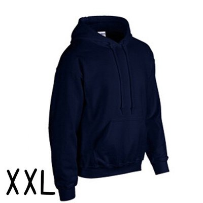 GILDAN 真品 美國棉 輕質感 中性 連帽 T恤 XXL (藏青) 帽T 情侶裝