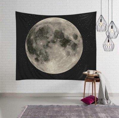 月球掛布-月亮裝飾掛毯 居家裝飾布 拍照背景布 壁毯 掛畫(150*200cm)_☆優購好SoGood☆