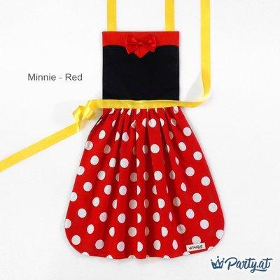 **party.at** 迪士尼 米妮 / 紅色款 兒童圍裙 2-8Y 萬聖節服裝 生日派對 迪士尼 白雪公主 冰雪奇緣