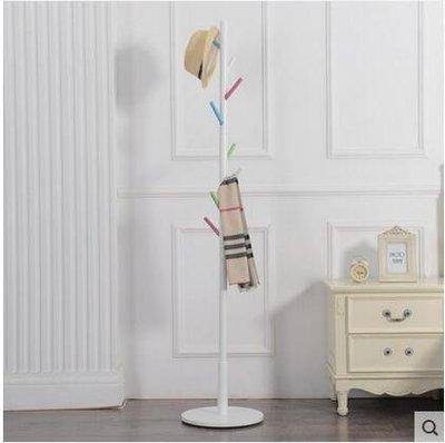 【優上】實木衣帽架 落地掛衣架臥室衣服架子歐式衣掛簡易立式帽子架「多彩色」