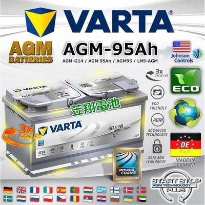 ~電霸科技~德國  電瓶 VARTA 汽車電池 G14 AGM 95AH LN5 BMW X1 X3 X4 X5