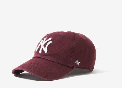 【YZY台灣】47 BRAND NEW YORK YANKEES 洋基 老帽 復古帽 老爺帽 MLB LOGO 酒紅 限