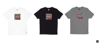 【HOMIEZ】 HUF FLAG BOX LOGO TEE【TS62001】世界國旗 短TEE