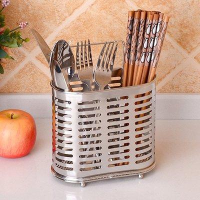 筷子籠304不銹鋼筷子筒瀝水架筷籠廚房家用筷子架創意壁掛式雙筒置物架【潮男阿舍】