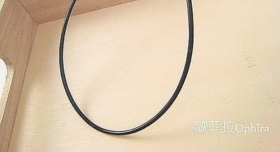 Ophira歐菲拉銀飾~S12520~20吋 2mm細圓皮繩925純銀扣頭項鍊 可搭charms beads